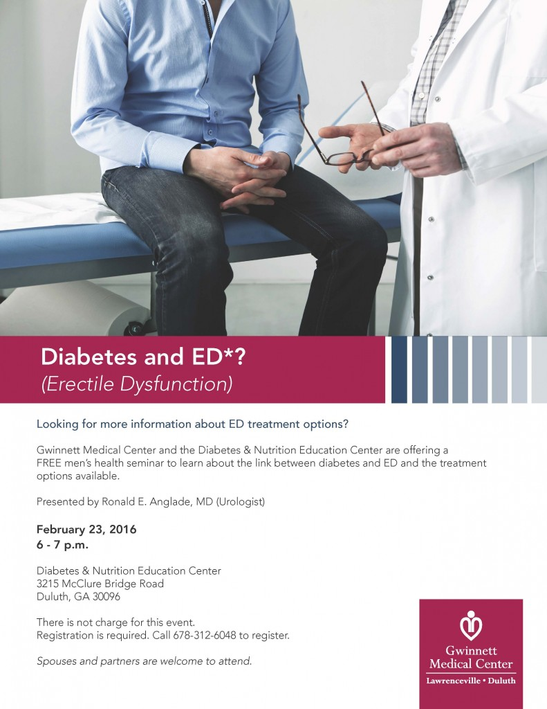 Diabetes and ED Class Flyer