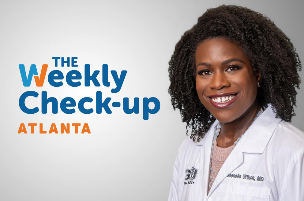 Headshot of Dr. Wilson and The Weekly Check-Up Logo