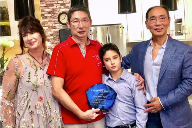 Photo of Amy Chang with her family.