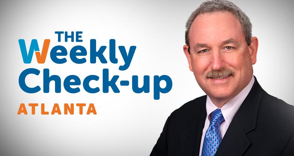 The Weekly Check-Up Atlanta logo and headshot of Dr. Hal Scherz.