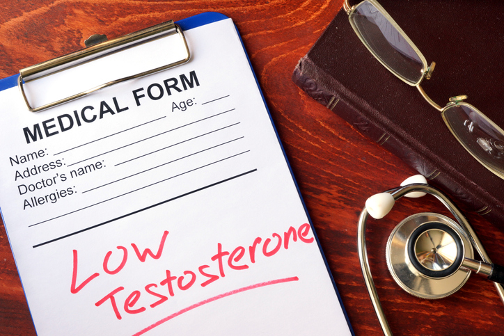 Patient diagnosed with a Testosterone Deficiency